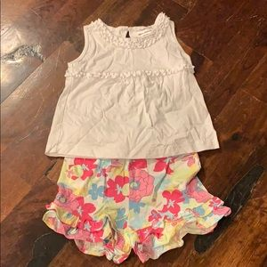 Hanna Andersson tank and shorts, size 90